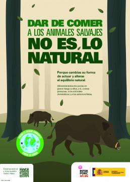 FORO AGRO GANADERO, INTERPORC y el MAPA lanzan la campaña 'Dar de comer a los animales silvestres no es lo natural'